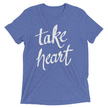 Load image into Gallery viewer, Blue Triblend Take Heart T-Shirt