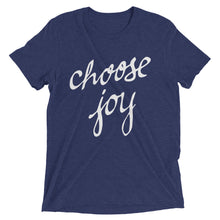 Load image into Gallery viewer, Navy Triblend Choose Joy T-Shirt