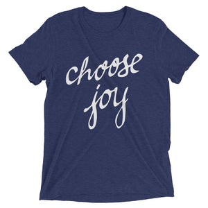 Navy Triblend Choose Joy T-Shirt
