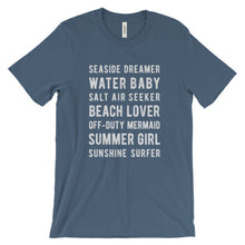 Load image into Gallery viewer, Steel Blue Beach Lover T-Shirt