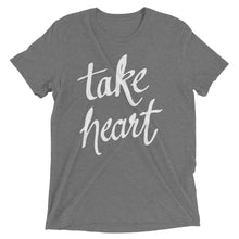 Load image into Gallery viewer, Grey Triblend Take Heart T-Shirt