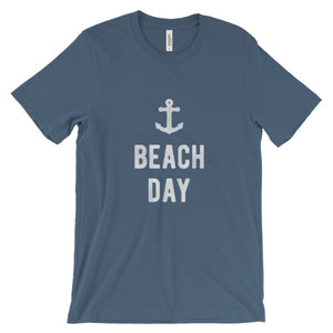 Steel Blue Beach Day T-Shirt