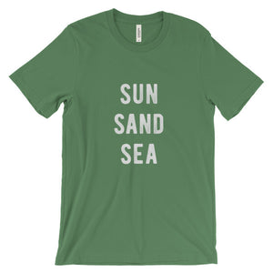 Leaf Green Sun Sand Sea T-Shirt