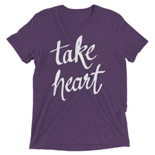 Load image into Gallery viewer, Purple Triblend Take Heart T-Shirt