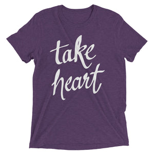 Purple Triblend Take Heart T-Shirt