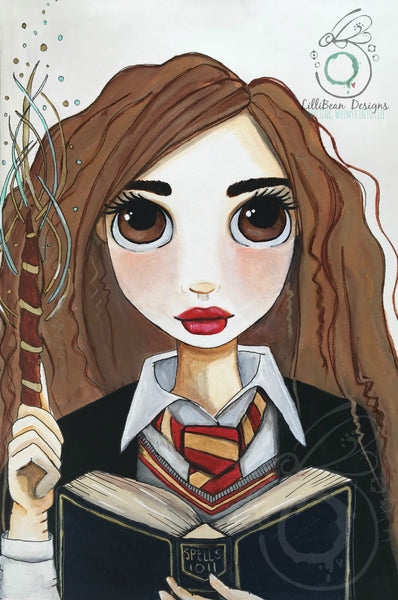 Hermione Granger (Harry Potter Fan Art) - Art Print