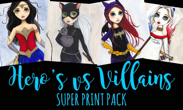Hero's vs Villain's Super Print Pack