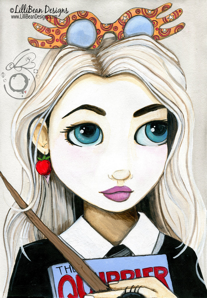 Luna Lovegood Harry Potter Fan Art Art Print Lillibean Designs