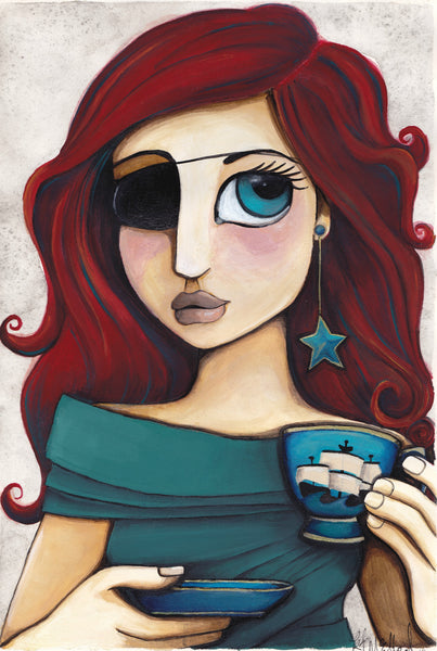 The Tea Cup Pirate - Art Print
