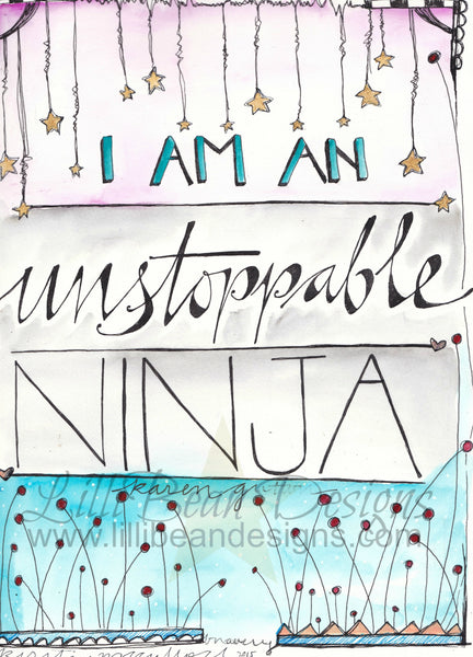 Unstoppable Ninja - Art Print.