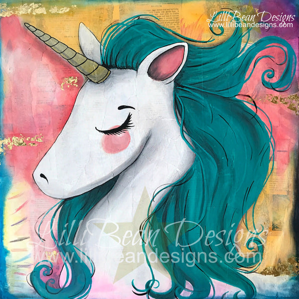 BEATRIX the Unicorn - Art Print