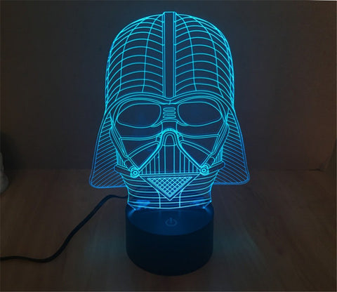 3D Star War Darth Vader LED - Gamer Gear Store
