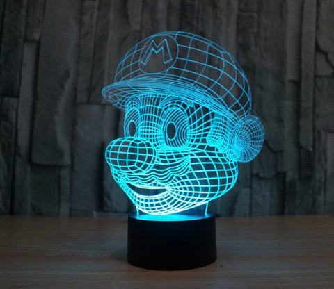 Mario Table Lamp 3D LED - Gamer Gear Store