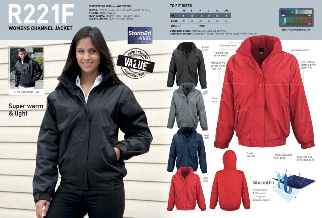R221F Result Core Women's Channel Jacket