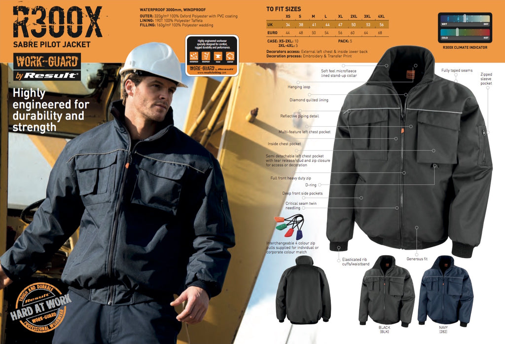 R300X Result Work-Guard Sabre Pilot Jacket
