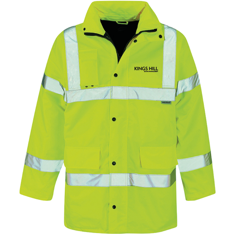 KHEM Hi-Vis Motorway Safety Jacket - Saturn Yellow