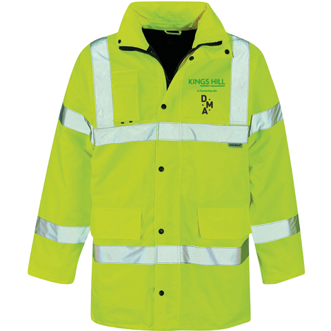KHPM DMA Hi-Vis Motorway Safety Jacket - Saturn Yellow