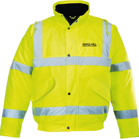 KHREM Hi-Vis Bomber Jacket - Yellow