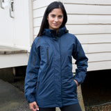 R400F Result Women's 3-in-1 Journey Jacket with Softshell Inner - Navy / Black