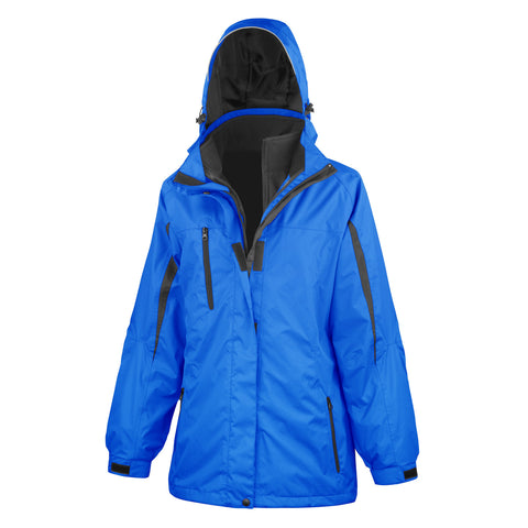 R400F Result Women's 3-in-1 Journey Jacket with Softshell Inner - Royal / Black