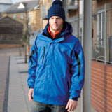 R400M Result 3-in-1 Journey Jacket with Softshell Inner - Royal / Black