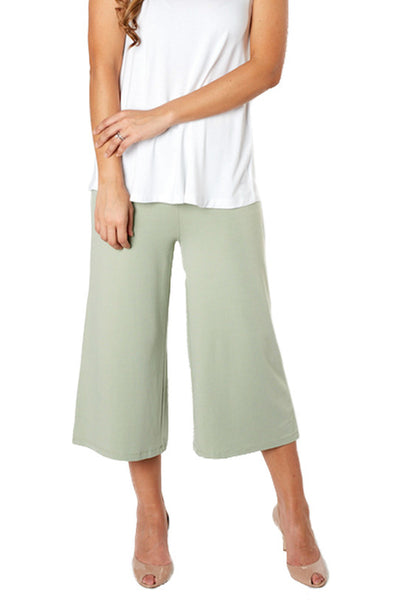 Green Bamboo Pants - Adaptive Clothing - Front