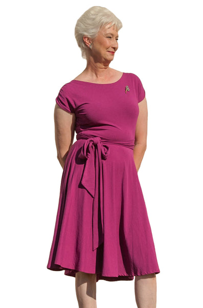 Berry Bamboo Wrap Dress