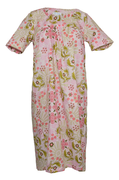 Nightie & Brunch Dress - Pink & Green