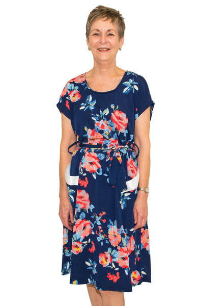 Lucille Floral Dress - Adaptive Clothing