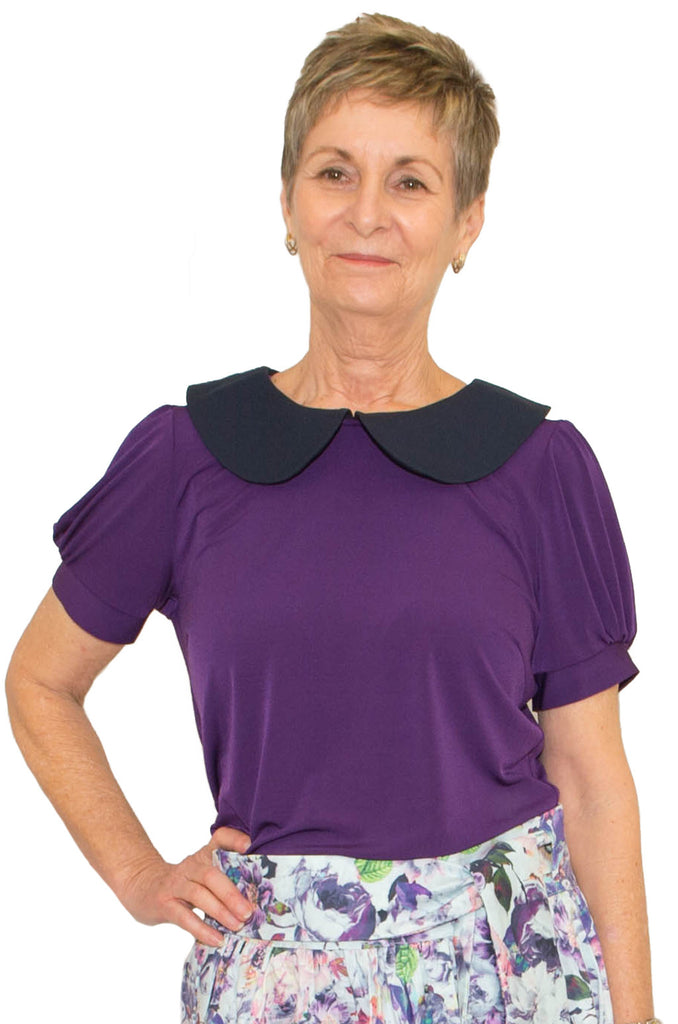 Wendy Blouse Petal Back Adaptive Top - Australian Made
