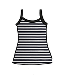 Women's Cami Black and White Stripes