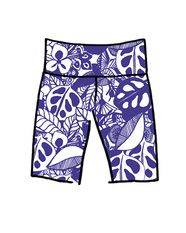Women's High Rise Bike Shorts Bloem In Blue