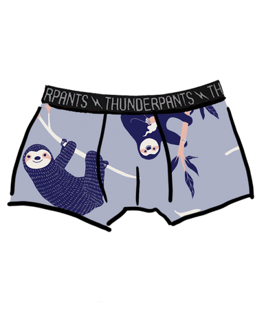 Men's Boxer Brief Blue Sloths