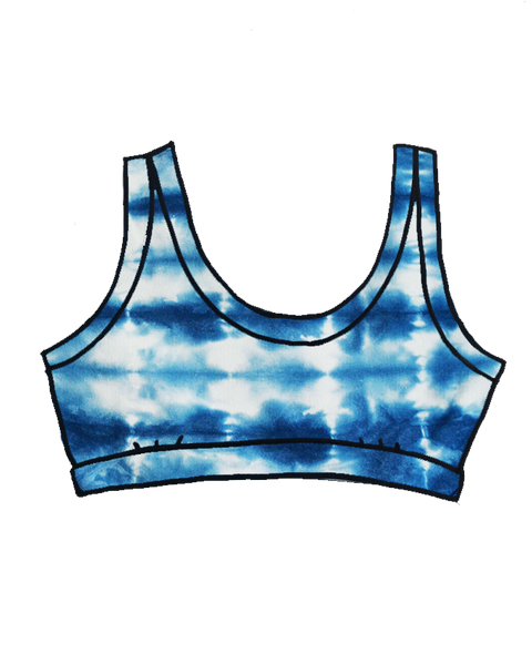 Women's Bralette Limited Edition Indigo Dye