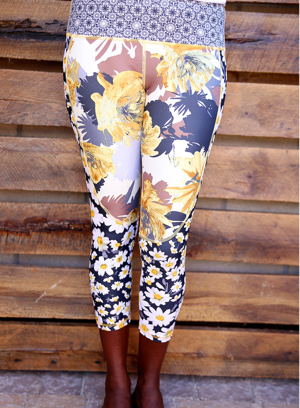Golden Marigold capri legging by ColorBlossom