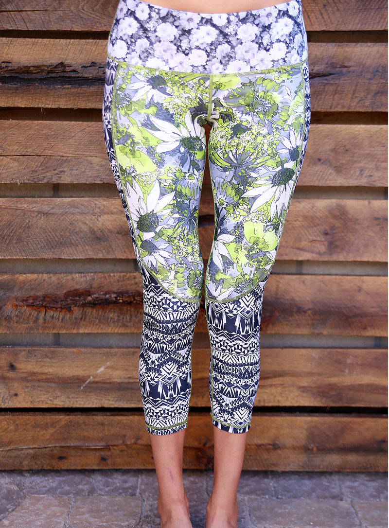 Green Astor Capris by ColorBlossom Clothing