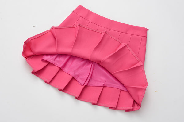 """RUFFLED"" HIGH-WASTED SKIRTS"