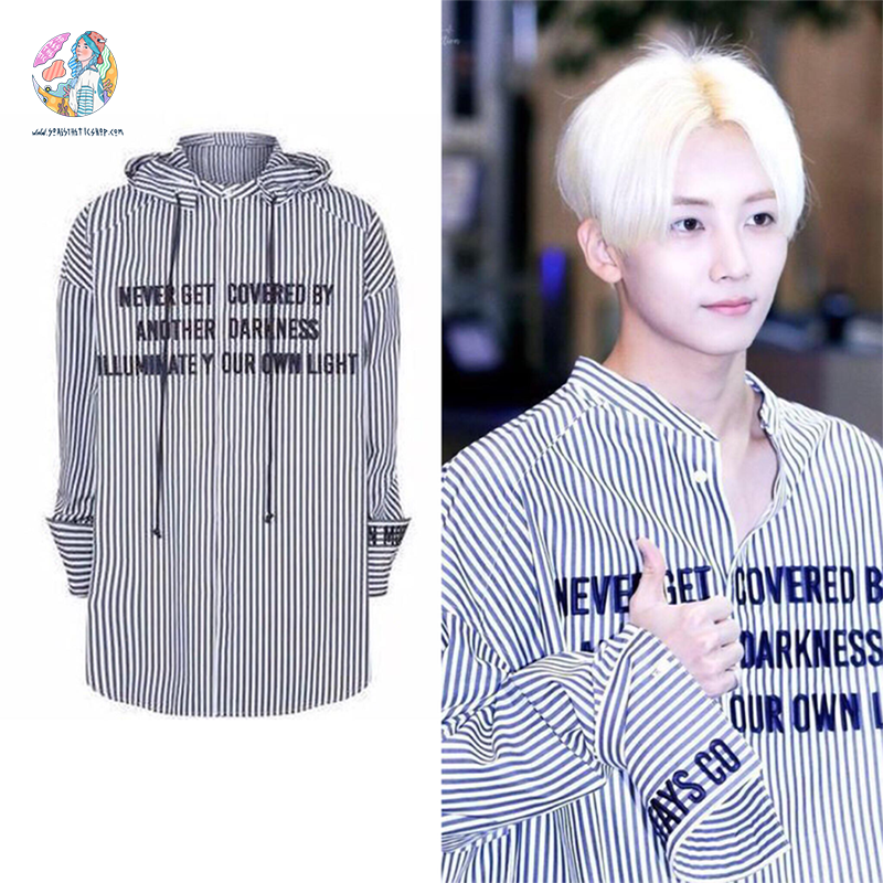 """STRIPED JIMIN"" HOODED SHIRT"