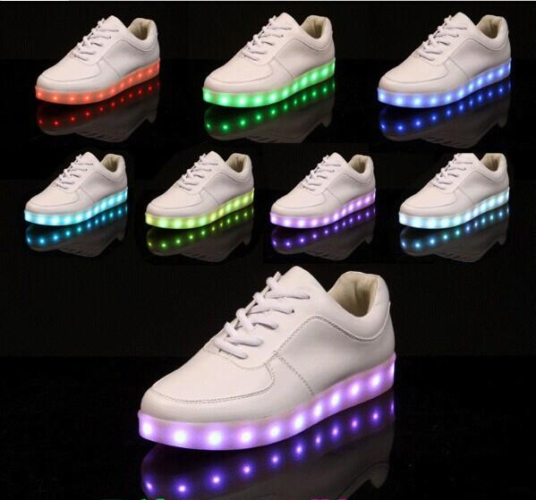 """LIGHTUP WHITE"" SNEAKERS"