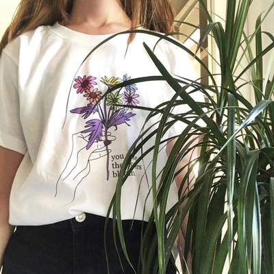 """YOU MAKE THE FLOWERS BLOOM"" SHIRT"
