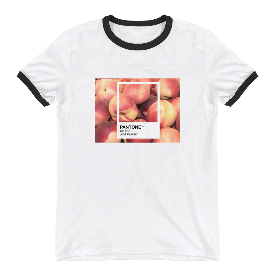"""JUST PEACHY"" RINGER SHIRT"