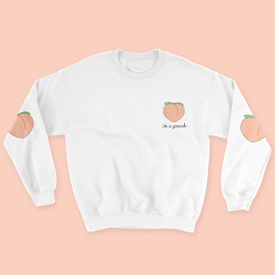 """I'M A PEACH"" SWEATSHIRT"
