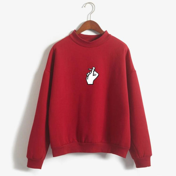 """KOREAN FINGER HEART"" SWEATERS"