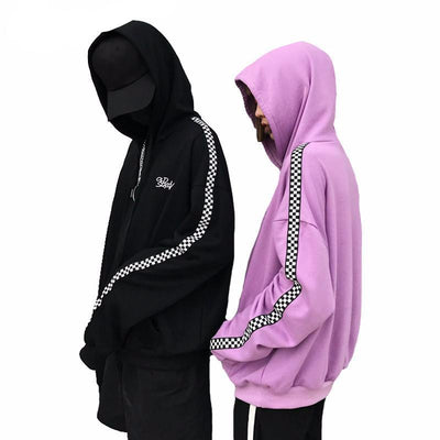 """STRIPED CHECKERED"" HOODIES"