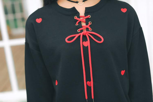 """LACED HEART"" SWEATER"