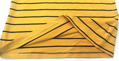"""YELLOW STRIPED"" TURTLENECK"