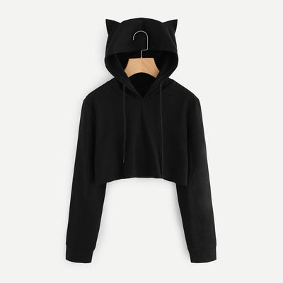"""KITTY GIRL"" CROPPED HOODIE"