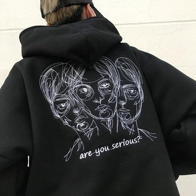 """ARE YOU SERIOUS?"" HOODIES"