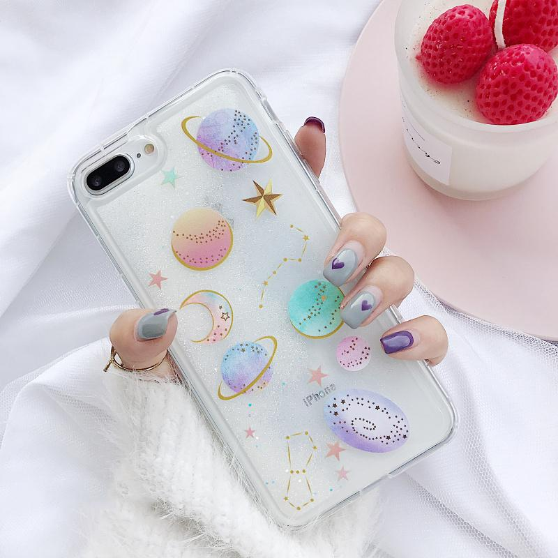 """GALACTIC"" GLITTER CASES"