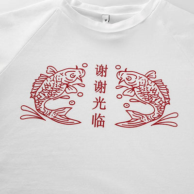 """KOI FISH"" CROP TOP"